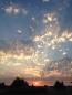 Brilliant sky over barn