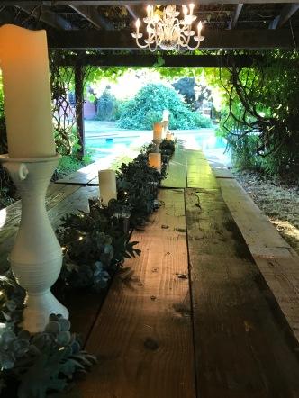 dining under the arbor